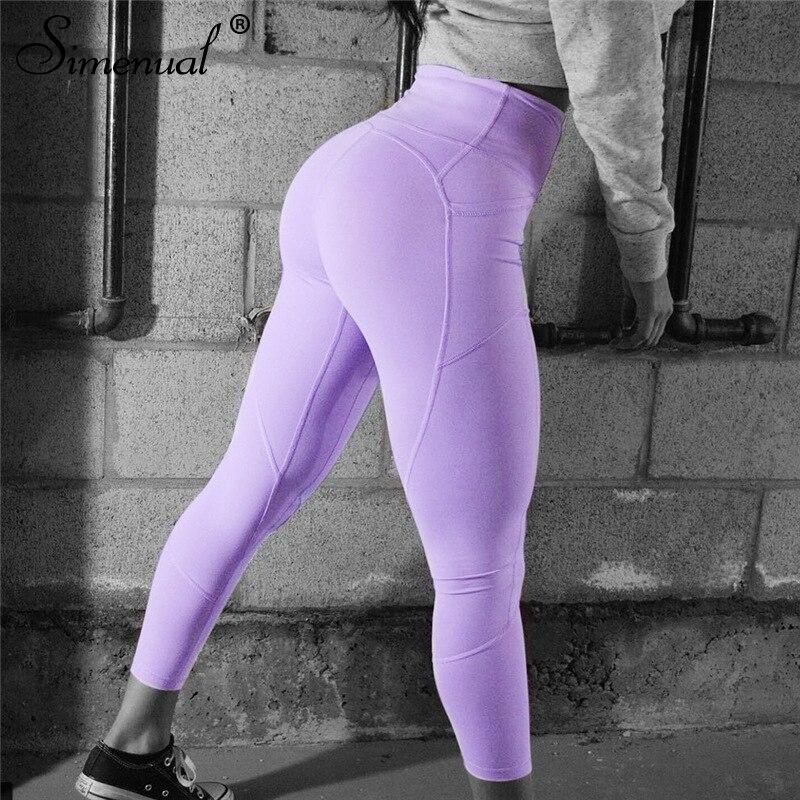 Simenual Bodybuilding push up heart leggings jeggings women fitness clothing sportswear pants athleisure slim elastic legging