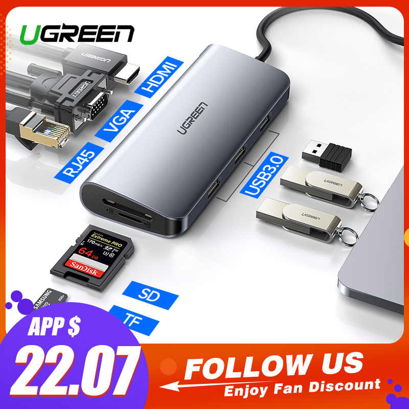 Ugreen Thunderbolt 3 док-станция usb type C к HDMI концентратор адаптер для MacBook samsung Dex Galaxy S10/S9 USB-C конвертер Thunderbolt HDMI