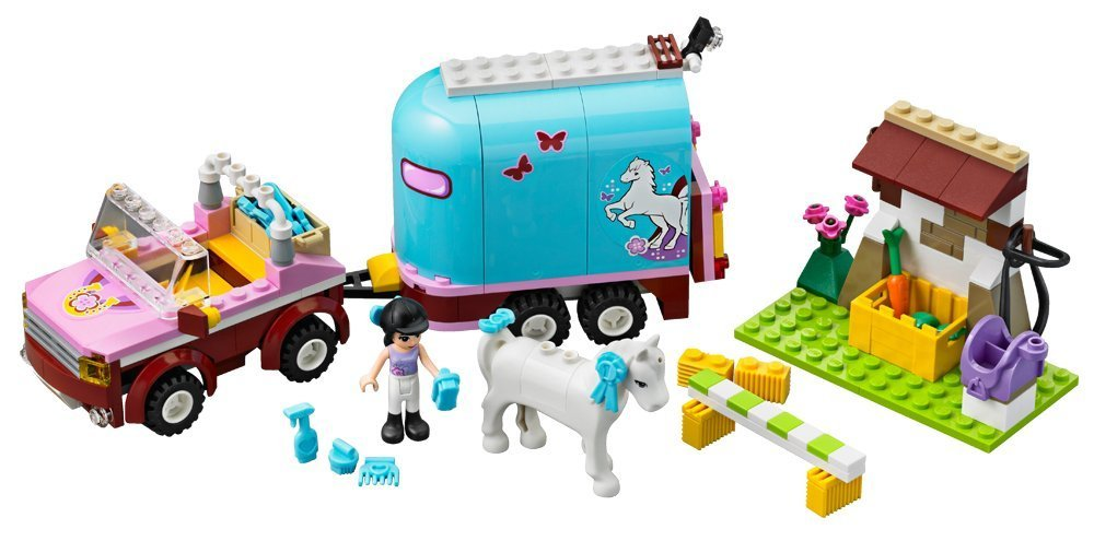 BELA Friends Series Emmas Horse Trailer Building Blocks Classic For Girl Kids Model Toys Minifigures Marvel