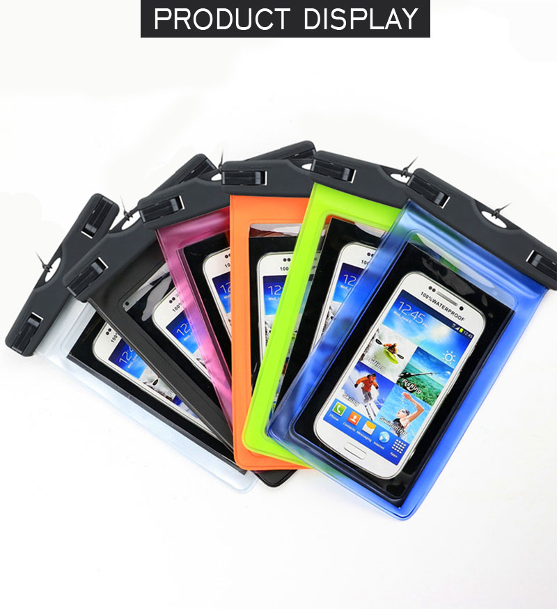 Universal Waterproof Pouch Cover Waterproof Phone Cases Underwater Swim Mobile Phone Case Bag For iPhone 8 7 Plus 6s Plus 6 Plus