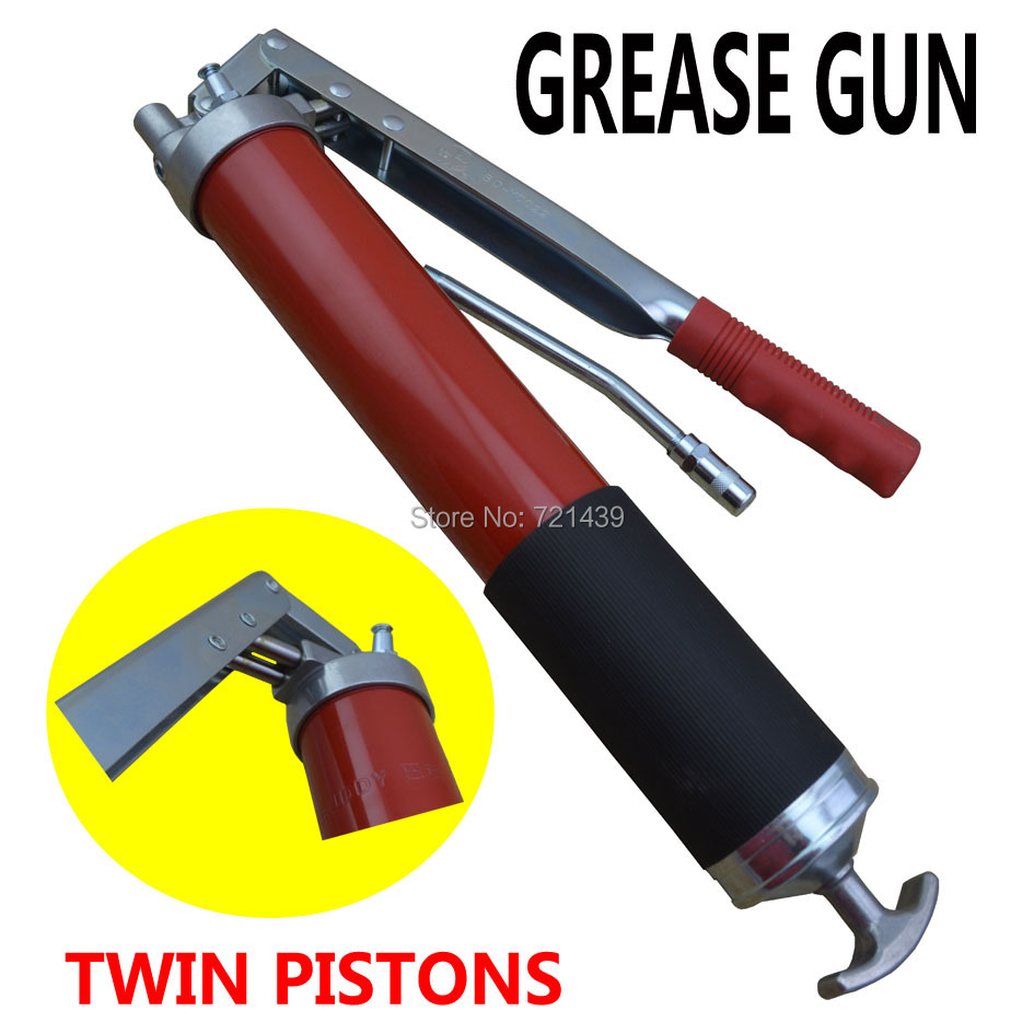 Buy 600cc Twin Pistons Cylinder Press Bar Type Grease Gun Hand Auto Repair Tool Vehicles Lubrication Tools