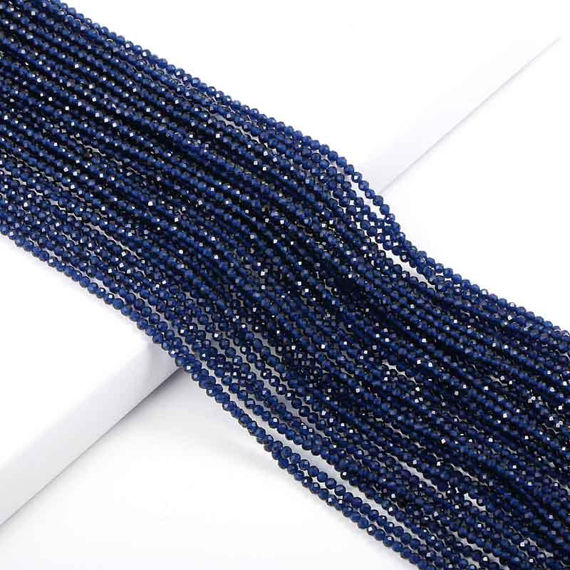 Маленькие бусины из натурального камня изумруды 2 3 мм сечение свободные бусины для изготовления ювелирных изделий ожерелье DIY браслет - Цвет: synthetic Sapphire