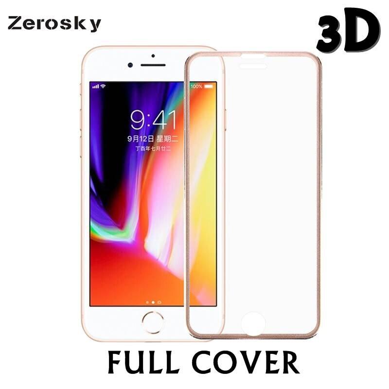 Zerosky 9H 3D Titanium Alloy Metal Frame <font><b>Curved</b></font> Full Cover <font><b>Tempered</b></font> <font><b>Glass</b></font> <font><b>Screen</b></font> Protector <font><b>Guard</b></font> Film <font><b>for</b></font> <font><b>IPhone</b></font> 7 8 8 plus X