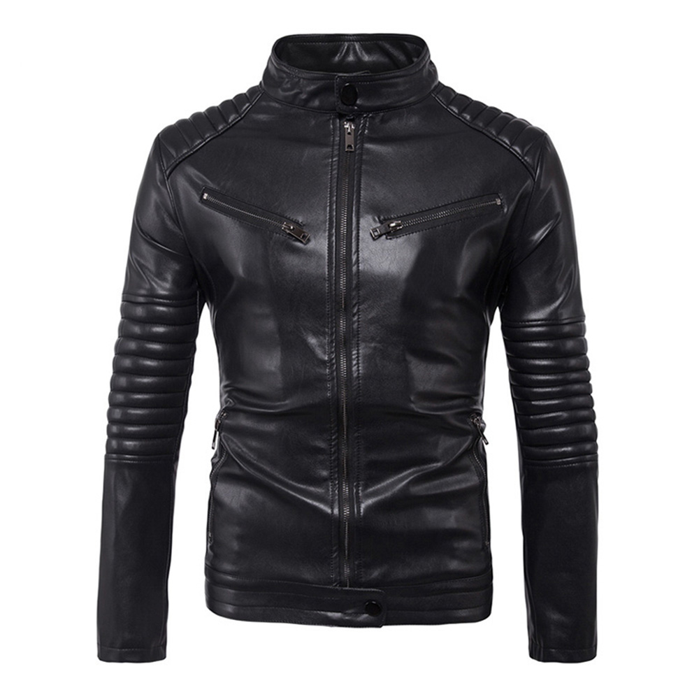 Herobiker Classic Motorcycle Leather Jacket Men Punk Biker PU Faux Leather Moto Jacket Retro Casual Coat Motorcycle Clothing цены