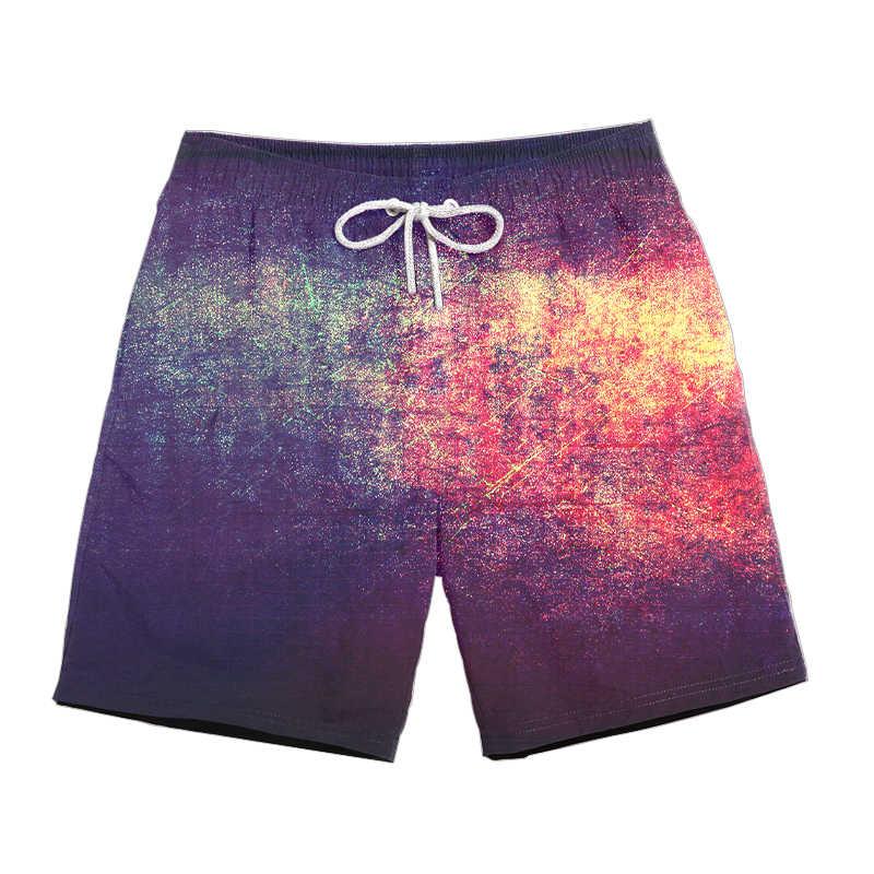 Drop shipping wyciek ropy naftowej 3D drukuj mężczyźni/kobiety na co dzień szorty szybkie pranie krótkie spodnie 2019 lato w nowym stylu mody psychodeliczny spodenki