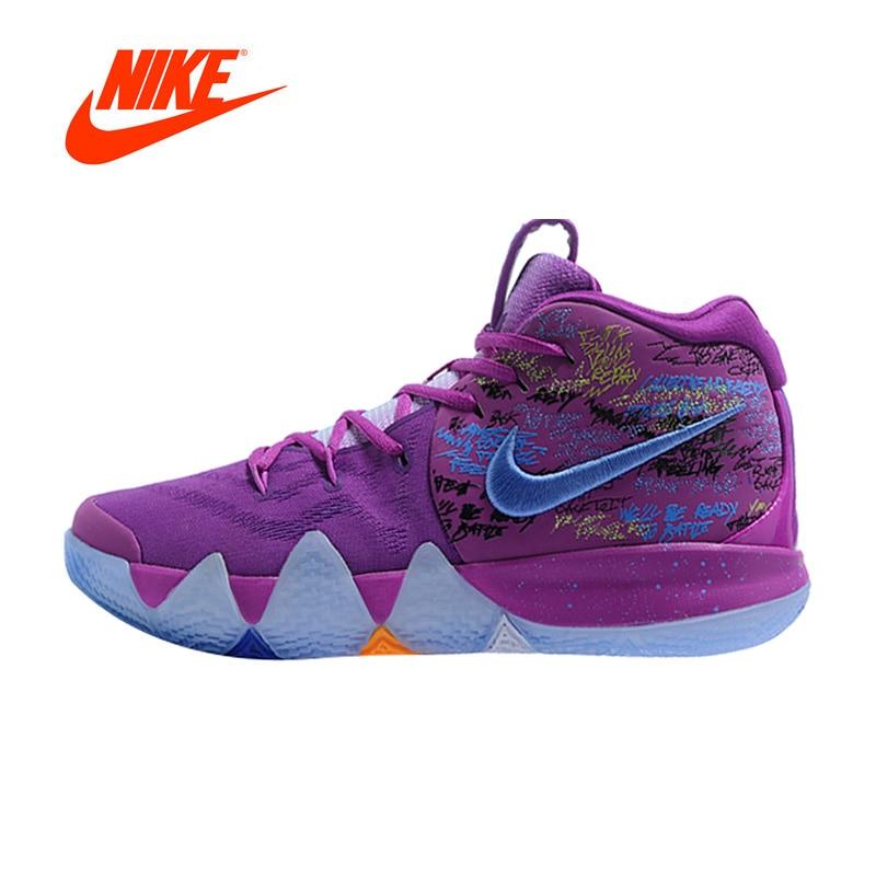 Original Nouvelle Arrivée Authentique Nike Kyrie 4 Irving 4th Génération Confettis hommes Basket-Ball Chaussures de Sport Baskets AJ1691-900