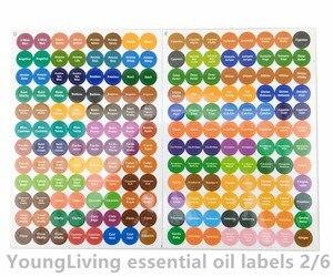 Image 4 - 1 ensemble pré imprimé huile essentielle bouteilles bouchon couvercle étiquettes cercle rond autocollants colorés pour tous doTERRA jeune vivant huiles organisateur