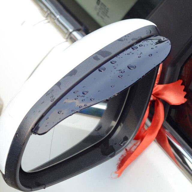 VODOOL 2Pcs PVC Car Rear View Mirror Sticker Rain Eyebrow Auto Side Mirror Rain Board Shield Sunshade Snow Guard Protector Cover 1
