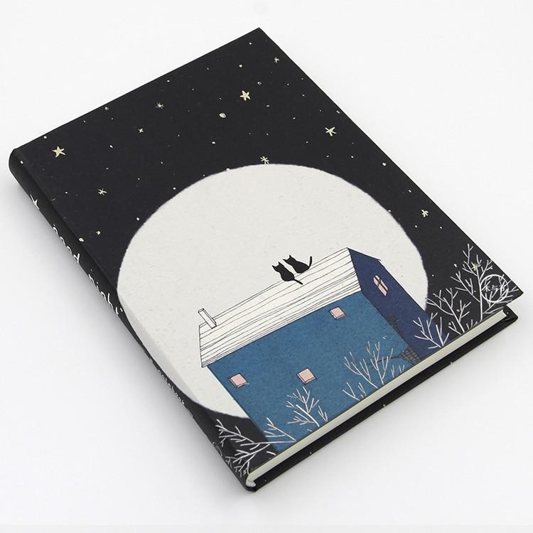 MOREUSEE Original Literature & Art Notebook Good Night Series A5 Notebook Blank Graffiti Book Sketchbook 1PCS-in Notebooks from Office & School ...