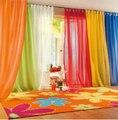 Высокой плотности пряжи терри вонг индивидуальные экраны окна окна спальни и гостиной разноцветные тюль, Само панель