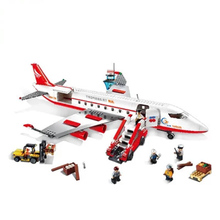 Large Plane Toy Air Bus Model Airplane Building Blocks Sets DIY Bricks Classic Toys Compatible planes Block TY0149RD