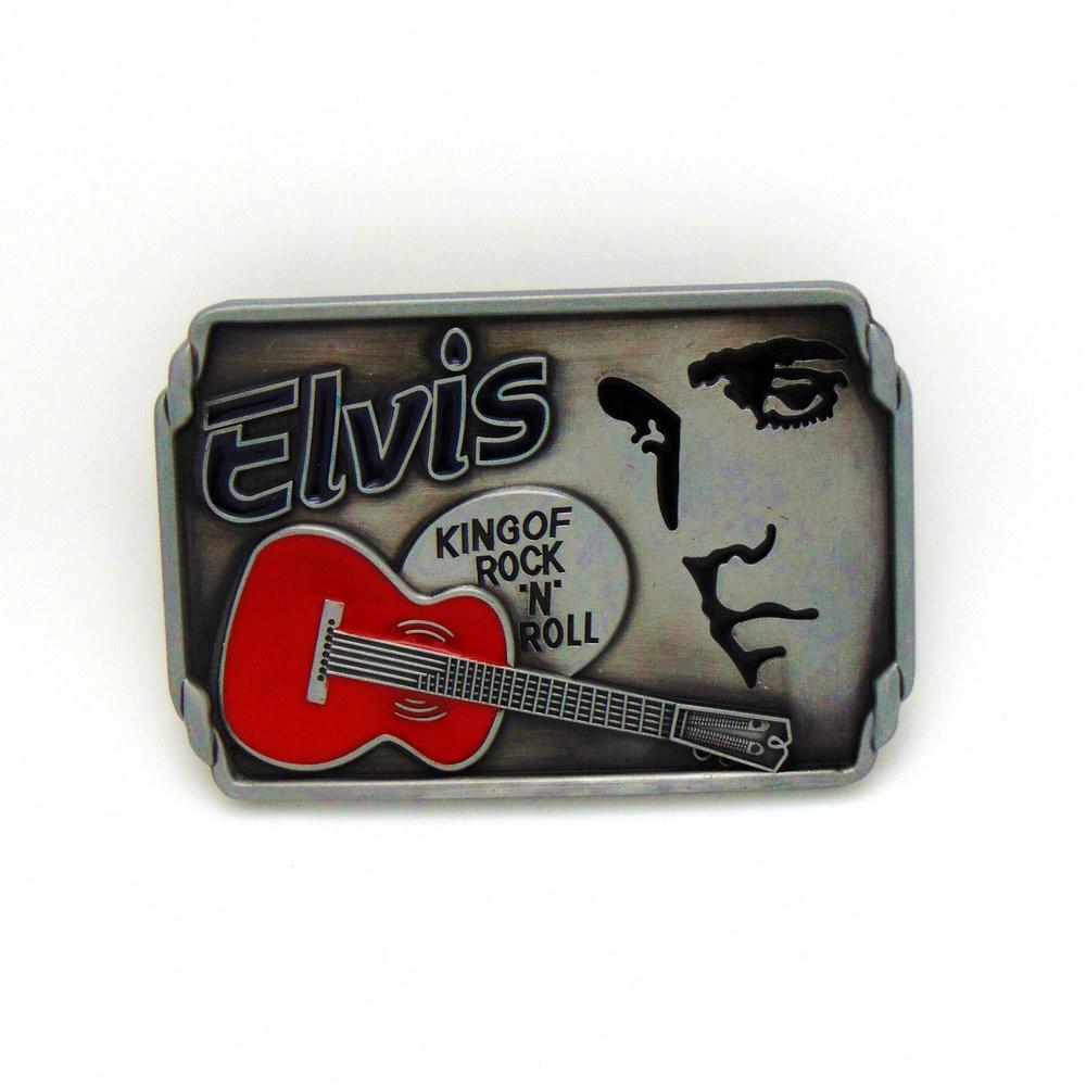 Cowboy Music The Guitarist ELVIS Belt Buckle Zinc Alloy Wear-resistant Fashion Belt Buckle For 4.0 Belt
