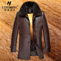 Mink Hair Leather Clothing 4XL Winter Leather Coats Casual Jackets Men Thermal Coats Male Leather Jackets Warm Clothing LJ6382