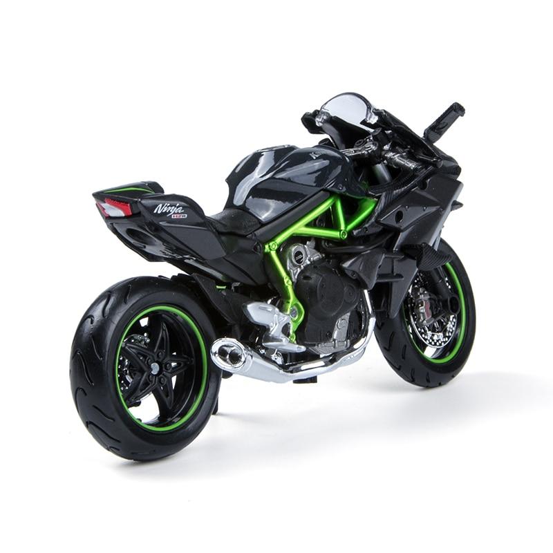 Maisto 1 18 Motorcycle Models Kawasaki Ninja H2R H2 R Diecast Plastic Moto Miniature Race Toy