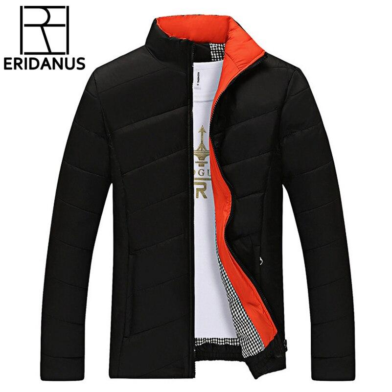 Şeker Renk Kış Ceket Erkekler Slim Fit Siyah Coats Ceketler Marka Moda Standı Yaka Fermuar Ceket Giyim Pamuk-Yastıklı X330