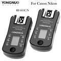 Yongnuo rf-605c rf-605n disparador de flash sem fio com lcd para canon 70d 60d 700d t5i para nikon d7100 d7000 d5200 d5100 RF-603II