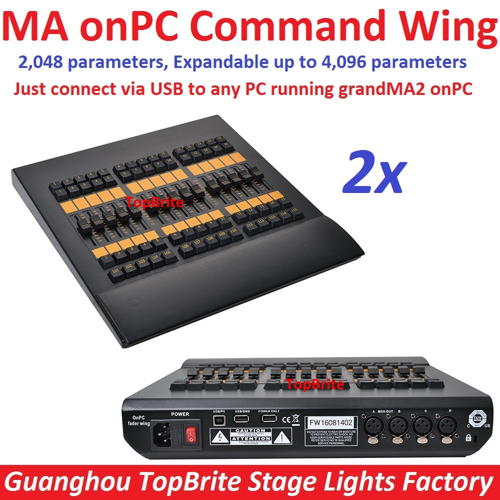 2xlot hot sales ma onpc fader wing dmx console control 2048 parameters to 4096 parameters fader. Black Bedroom Furniture Sets. Home Design Ideas