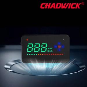 Image 2 - HUD Digital GPS velocímetro Head Up pantalla Auto parabrisas proyector electrónica coche velocidad proyector CHADWICK A2 Accesorios