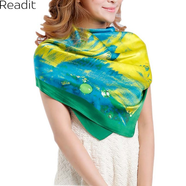 110*110cm 100% Mulberry Big Square Silk Scarves Fashion Floral Printed Shawls Women Genuine Natural Silk Scarf Shawl SC1713