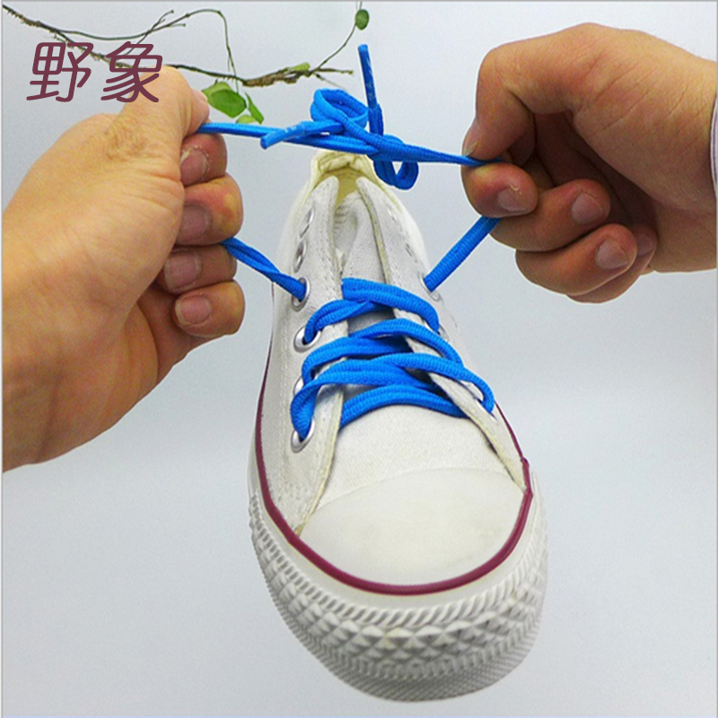 high quality creative  lazy button shoelaces polyester solid shoelaces no tie shoelaces for women /children for sports shoes new design round shoelaces 90cm no loose creative flat lazy sports shoelaces v025