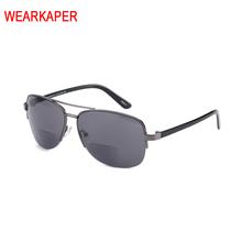 ISENGHUO wielofunkcyjny okulary do czytania mężczyźni kobiety okulary spojrzenie w pobliżu dalekiego okulary dwuogniskowe okulary okulary lupa gradientu okulary tanie tanio Lustro Unisex WHITE Akrylowe Octan 4 5cm 3443 WEARKAPER