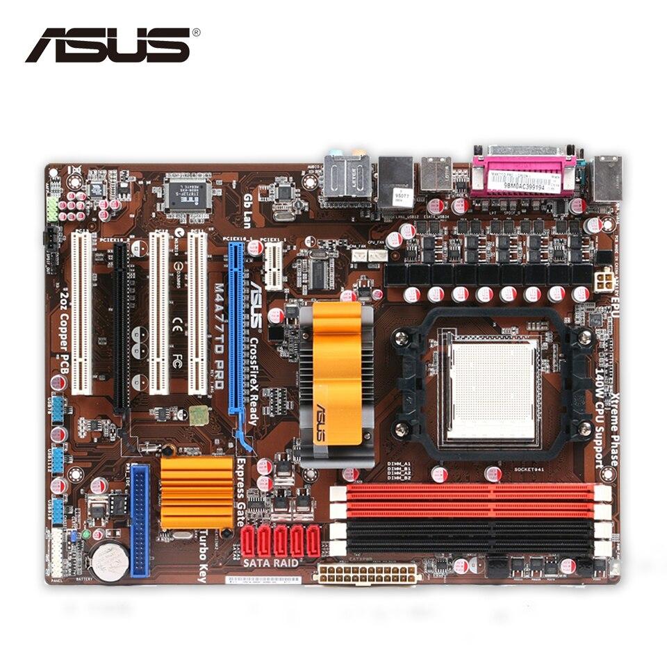 Asus M4A77TD PRO Original Used Desktop Motherboard 770 Socket AM3 DDR3 16GB SATA II USB2.0 ATX asus m4a77td original used desktop motherboard 770 socket am3 ddr3 16gb sata ii usb2 0 atx