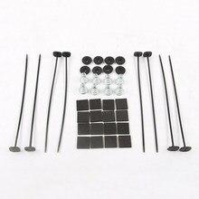 Cinta kit de montagem do radiador veículo elétrico ventilador de refrigeração gravata acessórios substituição da mola