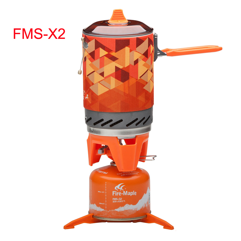 Fire maple Camping High efficiency Heat Collection Pot Outdoor Heat Exchanger Pot and Stove FMS X2