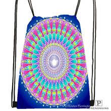 Custom mandala El Laberinto de Rosa@3  Drawstring Backpack Bag Cute Daypack Kids Satchel (Black Back) 31x40cm#20180611-02-99