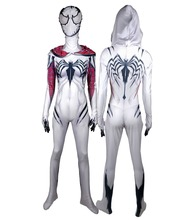 Girls Venom Spider Gwen Stacy Superhero Spandex Zentai Bodysuit Halloween Spiderman Cosplay suit free delivery
