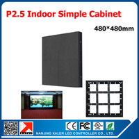 TEEHO Simple led display cabinet 480*480mm p2.5 led display board with receiving card led cabinet for indoor video wall