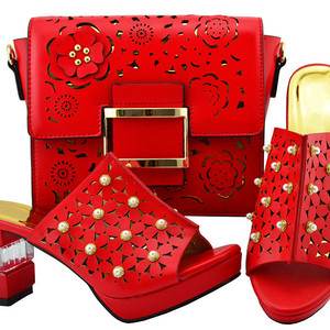 Top sale red women shoes match