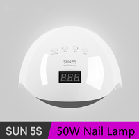SUN 5S 50W Nail Dryer Lamp UV LED Dual Light Auto Sensor Professional Manicure Lamp Nail Art Tools Ice Lamp