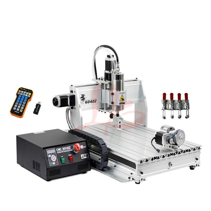 USB Cnc Machine 4 Axis 2.2KW CNC Router 6040 Cnc Milling Machine Metal Engraving Machine Wood Engraver
