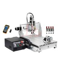 Usb máquina cnc 4 eixos 2.2kw cnc roteador 6040 cnc fresadora de metal máquina de gravura em madeira gravador