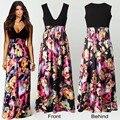 Vestido longo maxi vestido de festa vestido mulheres vestido de verão estilo vestidos de festa estilo verão 2015 moda robe roupas baratas da china