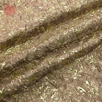 Designer American style 3D embossed coffee floral jacquard brocade fabric for dress coat tela tecidos stoffen tissu yarn SP3079
