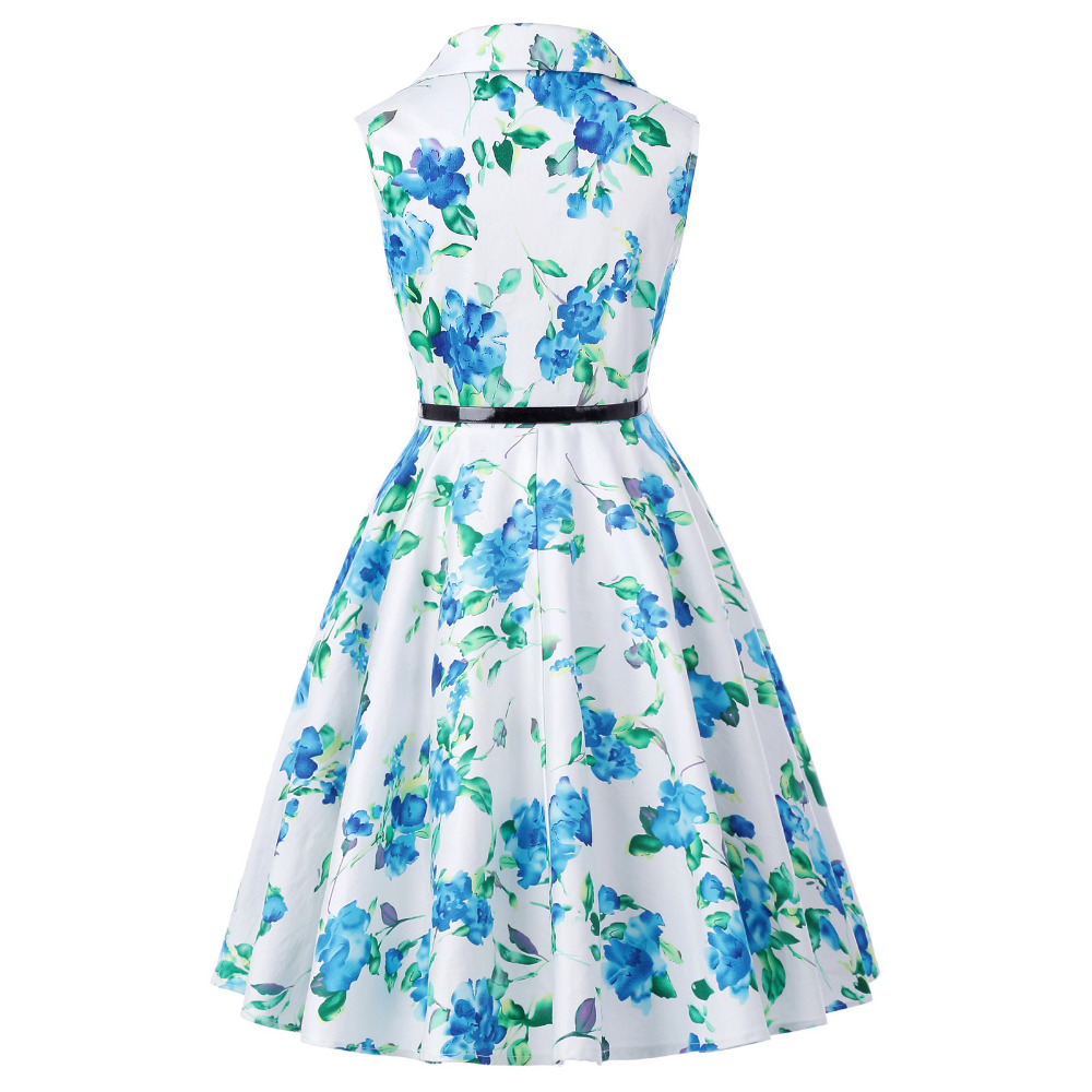 Grace Karin Flower Girl Dresses for Weddings 2017 Sleeveless Polka Dots Printed Vintage Pin Up Style Children's Clothing 30