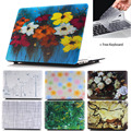 Luxury Pastoral Flower Rubberized  Antique Matte Hard Laptop Case Cover For Macbook Air 11 13 Pro 13 15 Pro 13 15 Retina