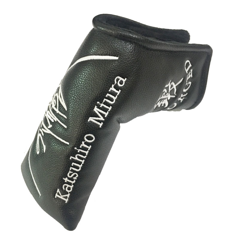Cooyute wholesale Golf headcover Bear pattern PU T Putte Unisex black Clubs head cover Free shipping