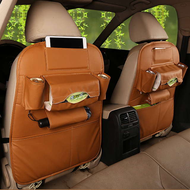 2018 New Car seat storage bag Hanging bags car seat back bag Car child safety seat car steat back bag Multifunction storage box