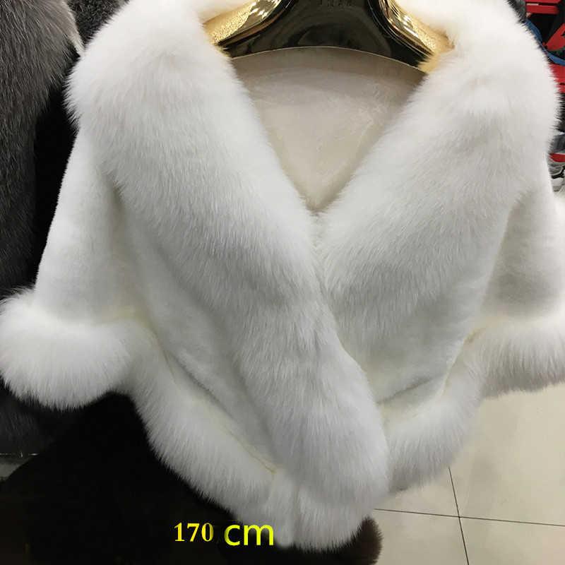 e95ceb345 ... Wedding Shawl Bridal Shawl Rex Rabbit Fur Red Fox Fur Collar poncho  Silver Fox Fur Scarf ...