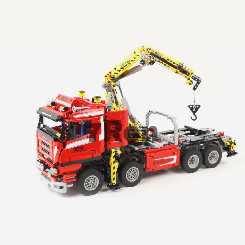 Models building toy 20013 1877pcs Technic Series Electric Crane Truck Building Blocks Compatible with lego 8258 toys & hobbies new lepin 20013 technic series 1877pcs the electric crane truck model building blocks bricks compatible 8258 toy christmas gift