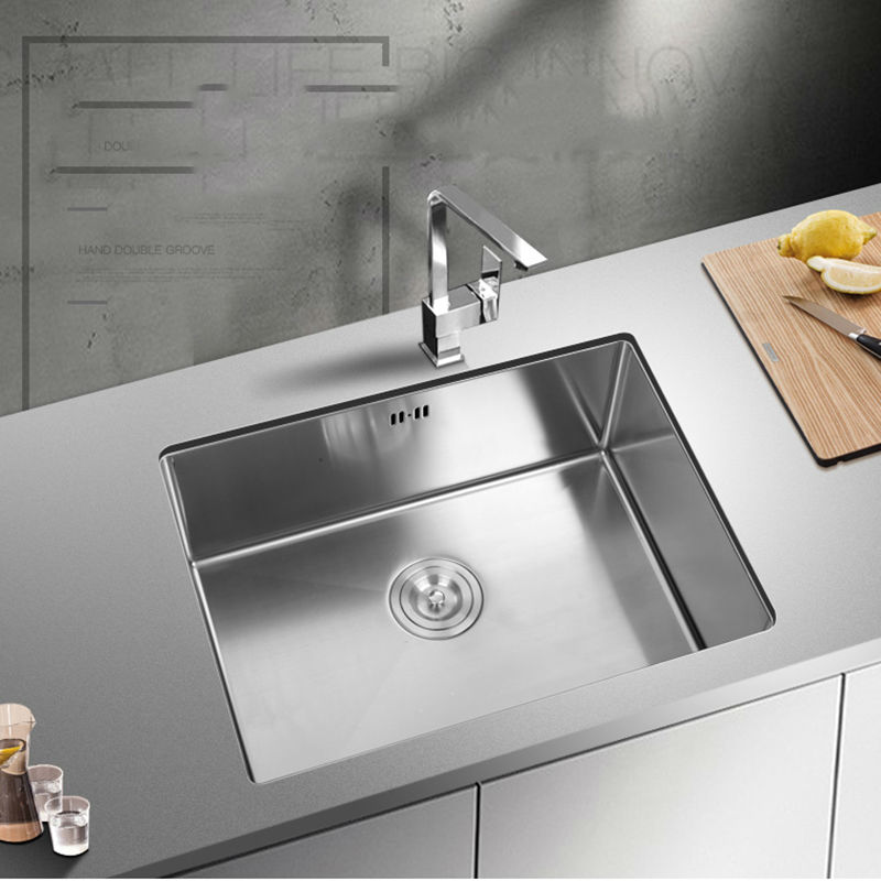 Ordinaire Kitchen Sink Undermount Handmade Brushed Seamless 304 Stainless Steel  Single Bowl Drawing Drainer Welding Sinks Big Wash Dishes In Kitchen Sinks  From Home ...