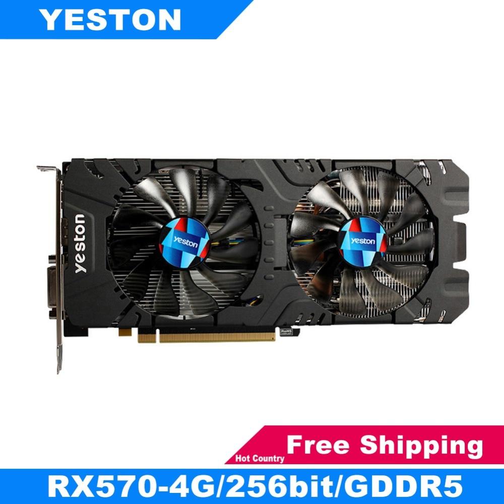 Yeston RX570 256bit Graphics Cards GDDR5 PCI-Express 3.0 Gaming Desktop Computer PC Video Graphics Cards Support DVI-D HDMI DP цена