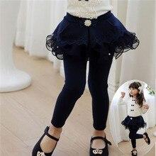 2016 High Quality Flower Girl Pants Baby Girl Leggings Kids Cotton Fashion Legging Children Autumn Pant Girls' leggings for 2-9y