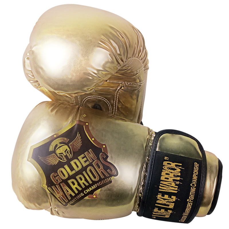 Golden Gloves Fitness Vaughan: Mma Training Gold Leather Luxury Women And Man Free Size