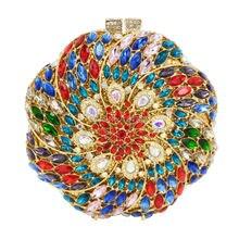 Luxus Abendtaschen Sparkly Kristall frauen handtaschen rundheit Form Damen abendessen taschen clutches handtasche SC316