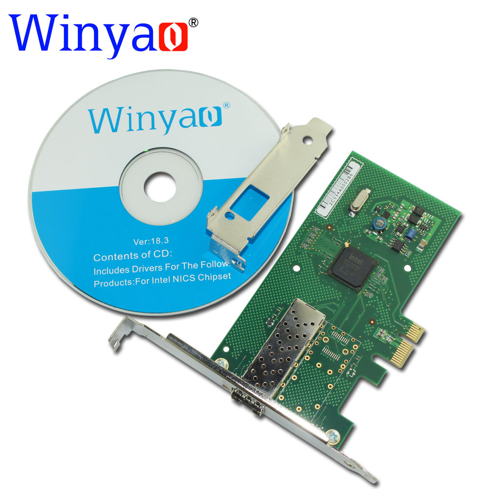 Winyao WYI350F1SFP PCI-Express X1 1000Mbps Gigabit Ethernet Lan Fiber Desktop network card For intel I350 SFP Nic  usb 3 0 to 1000mbps gigabit ethernet lan fiber optical network card realtek rtl8153 with sfp optical module white