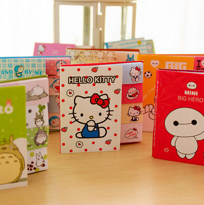 Cute Cartoon Totoro Hello Kitty Doraemon Baymax Self-Adhesive Memo Pad Sticky Notes Bookmark School Office Supply ...